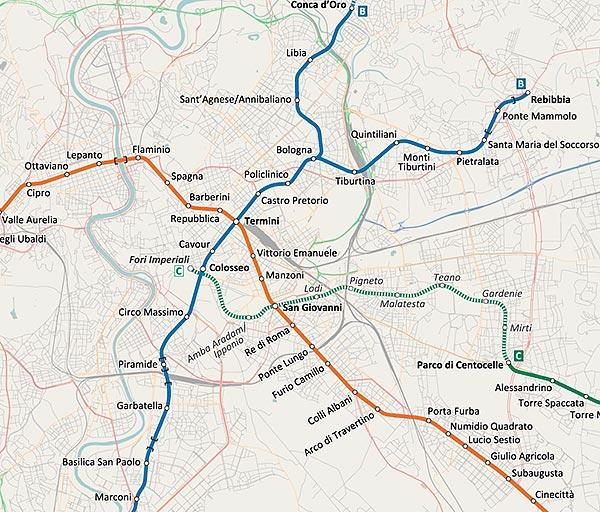 Rzym metro z nową linią C