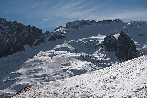 Ostatnie spojrzenie na trasę z Przełęczy Padon