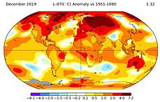 Mapa globalnego ocieplenia